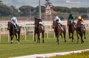 Five Jockey In a Horse Race